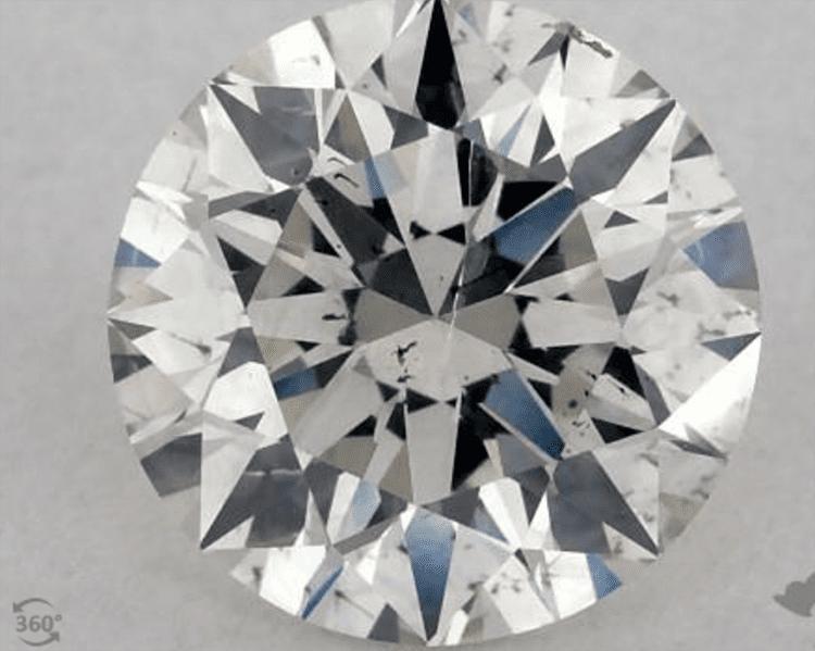 1.03 Carat H-I1 Excellent Cut Round Diamond. $2,080. Photo courtesy of James Allen.
