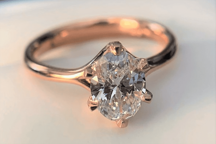 1.05 carat oval cut diamond solitaire engagement ring. Jewels by Grace. engagement ring ideas