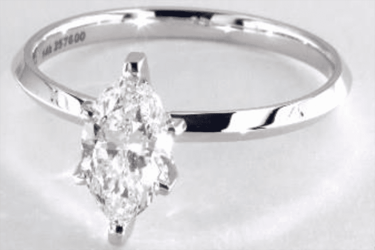 1.09 Carat Marquise Cut Solitaire Engagement Ring. Photo courtesy of James Allen.