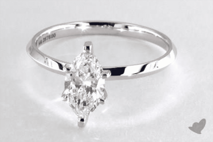 1.09 carat marquise cut solitaire engagement ring ideas. James Allen.