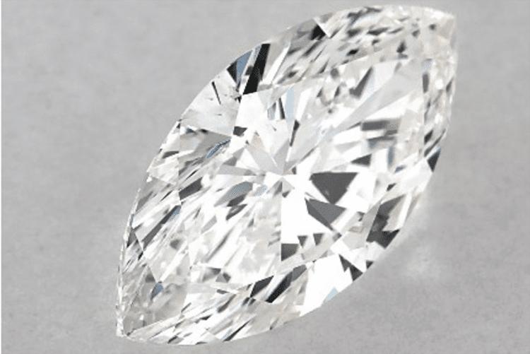 1.70 Carat F-SI1 Marquise Cut Diamond. Photo courtesy of James Allen.