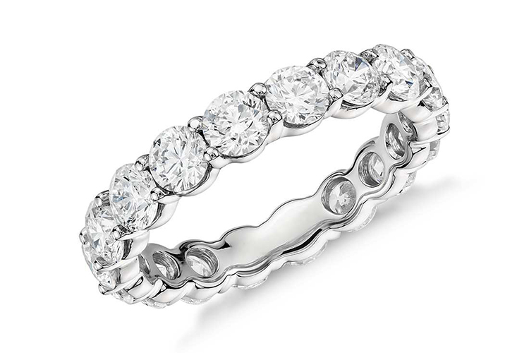 Blue Nile prong-set 2.38 Carat of diamonds