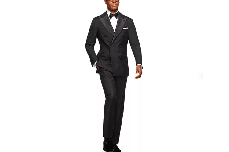 Suitsupply Havana Black Plain Tuxedo Jacket and Pants