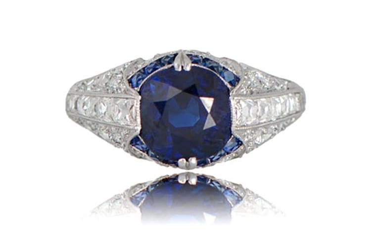 antique sapphire ring estate diamond jewelry engagement ring ideas