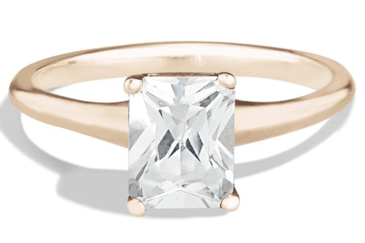 Avens Diamond radiant engagement ring ideas. Bario Neal.