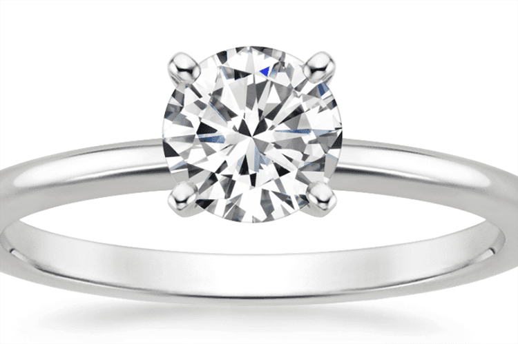 Brilliant Earth four prong petite comfort fit engagement ring ideas diamond