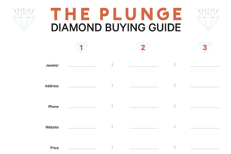 Printable Diamond Buying Checklist courtesy of The Plunge