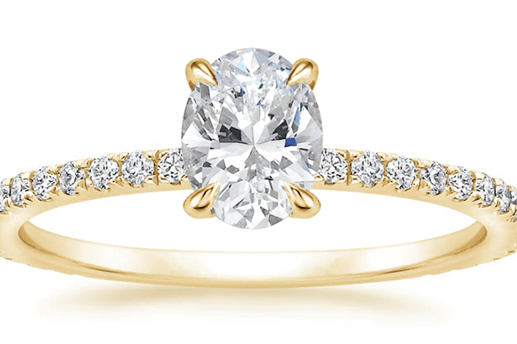 Demi Diamond Ring with 0.75 carat oval diamond. Brilliant Earth. engagement ring ideas