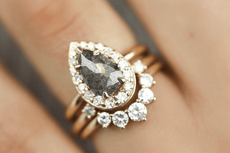 Different gray rose cut. L Priori Jewelry. engagement ring ideas