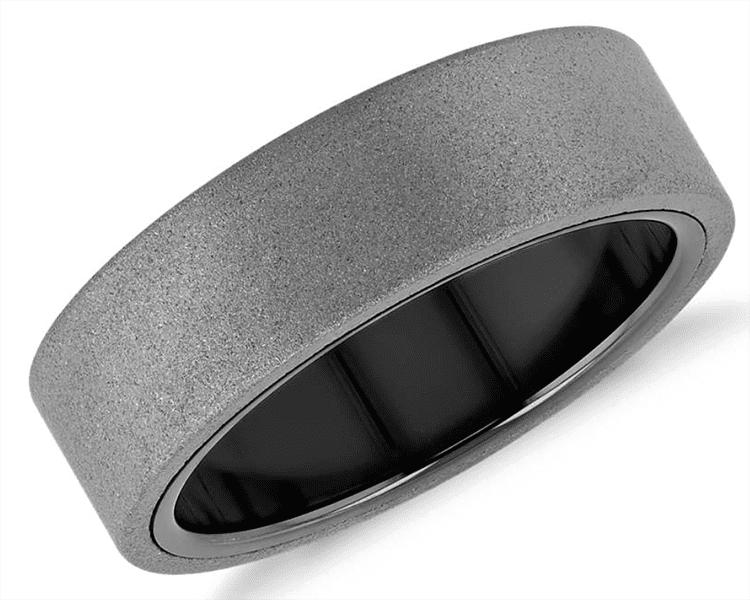 Flat ring courtesy of Blue Nile