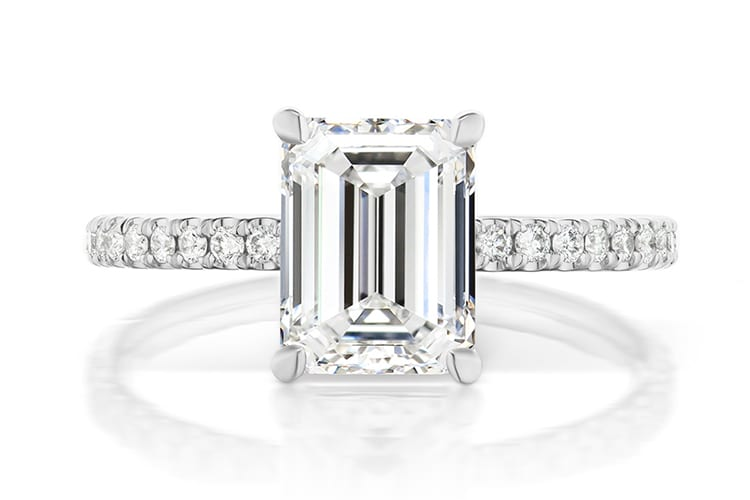 Greenwich St Ceremony Baxter 1.70ct diamond engagement ring. (Photo by Greenwich St Jewelers).