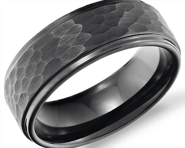 Hammered ring courtesy of Blue Nile