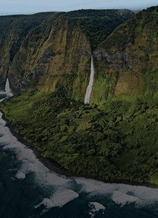 Fly Over Waimanu Falls
