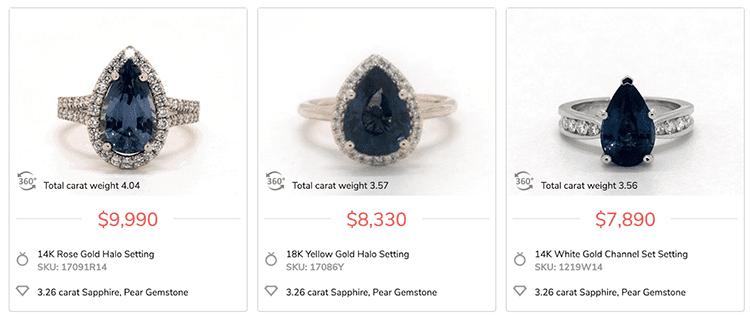 James Allen Sapphire Engagement Rings