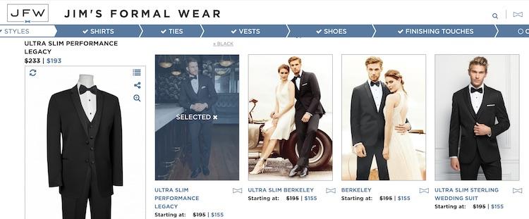 Jim's Formalwear Tuxes