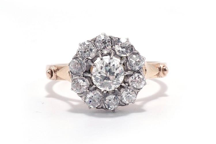 Jolie Edwardian diamond cluster ring. (Photo by Ashley Zhang).
