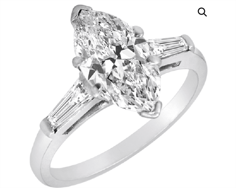 Marquise Diamond Solitaire engagement ring. Aaron Faber. engagement ring ideas