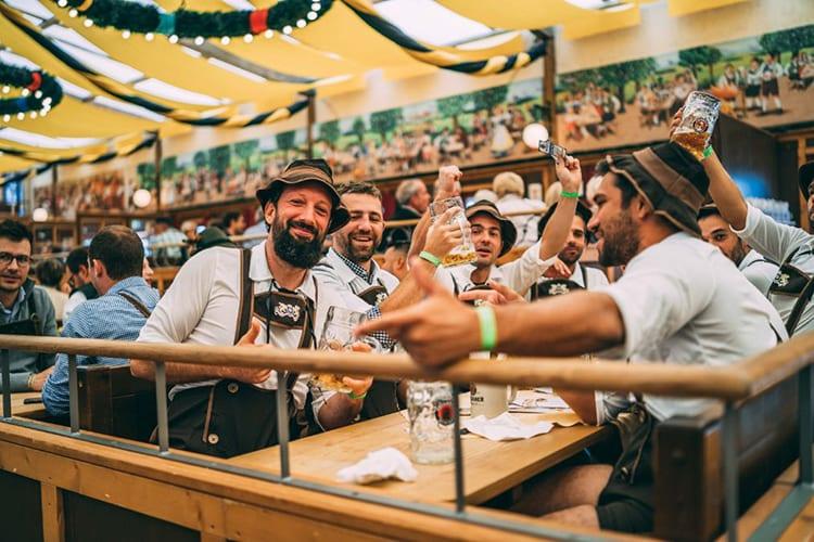 Oktoberfest Munich Germany Paulaner beer tent bachelor party ideas