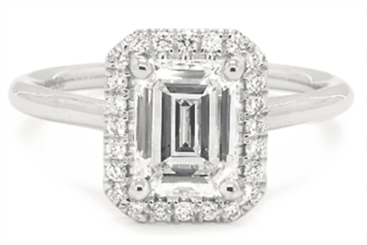 Pavé Set Diamond Halo Engagement Ring courtesy of James Allen
