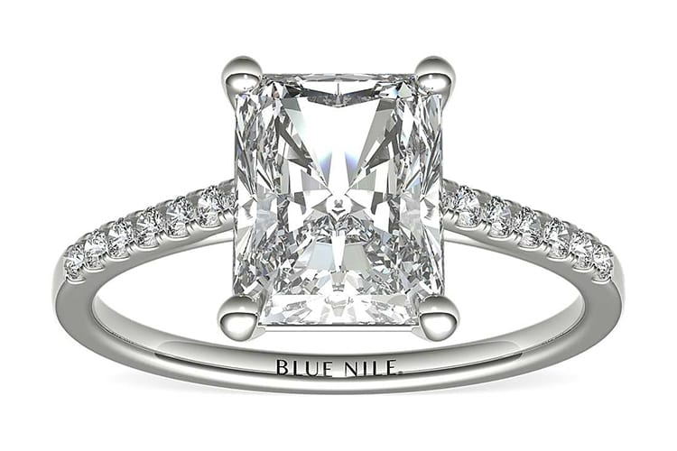 Petite Cathedral pavé in platinum. (Photo courtesy of Blue Nile)