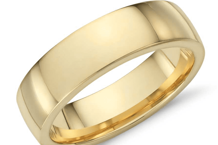 18K yellow gold ring courtesy of Blue Nile