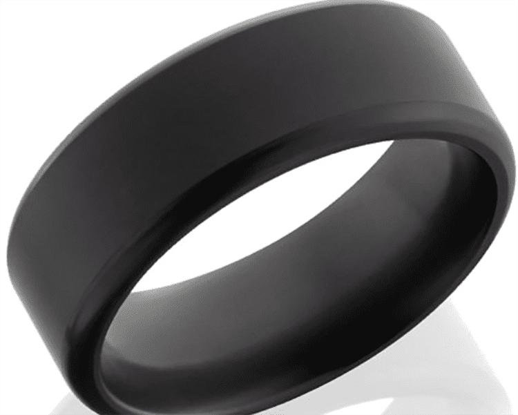 Photo of satin finish wedding ring courtesy of Robbins Brothers