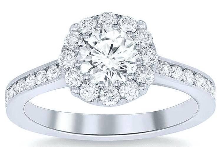 Round brilliant 1.50 ctw VS2 Clarity, I Color Diamond Platinum Ring. $4,999. Photo courtesy of Costco.