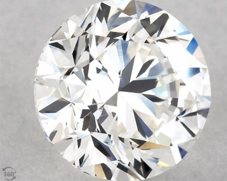 1.00-Carat G-VS1 very good cut round diamond courtesy of James Allen