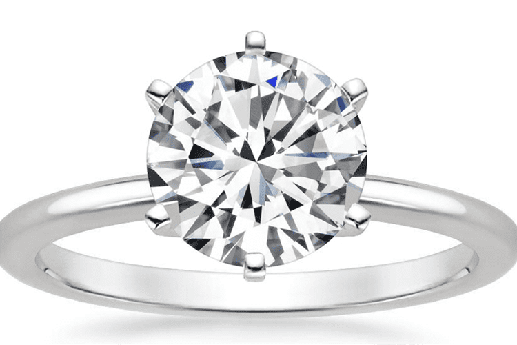 Six prong comfort fit engagement ring Brilliant Earth diamond ideas