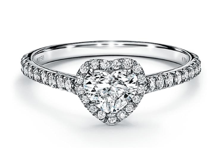 Tiffany Soleste Heart Shaped Halo Engagement Ring Tiffany & Co. engagement ring ideas