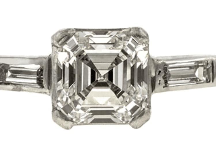 Vintage Asscher Cut Diamond Engagement Ring. Doyle & Doyle. engagement ring ideas