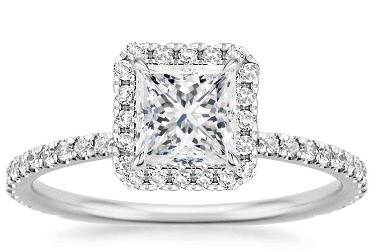 Waverly Diamond Ring 1.01 carat princess diamond. Brilliant Earth. engagement ring ideas wedding ring ideas