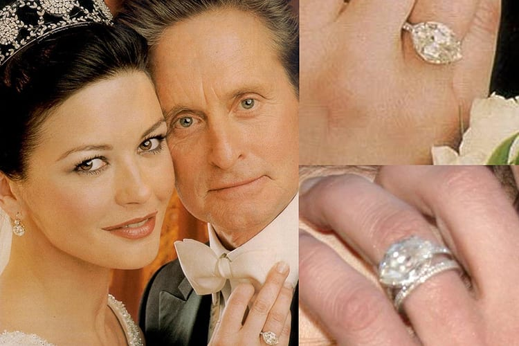 Photo of Catherine Zeta-Jones' engagement ring courtesy of Norman Jewelry