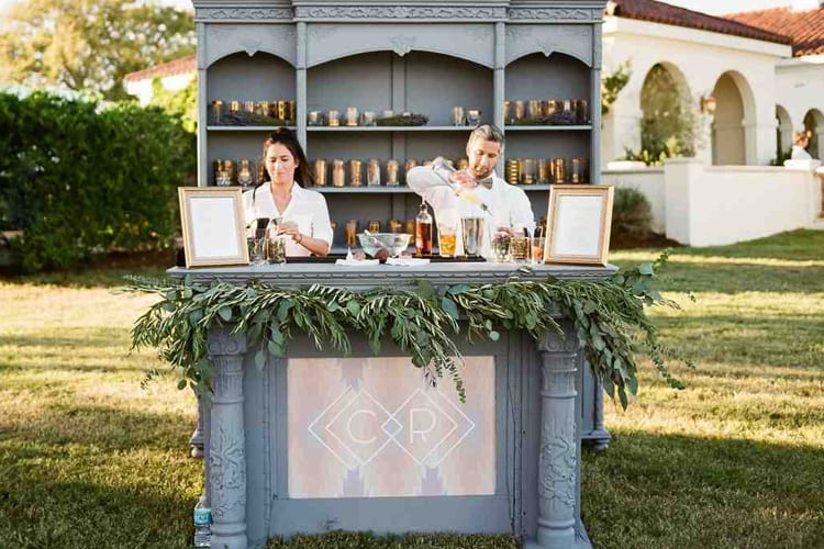 Twp bartenders at a wedding reception