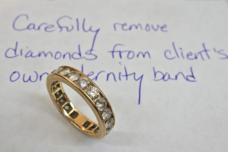 Eternity Band Before Upgrade (Photo courtesy of Karen Karch)