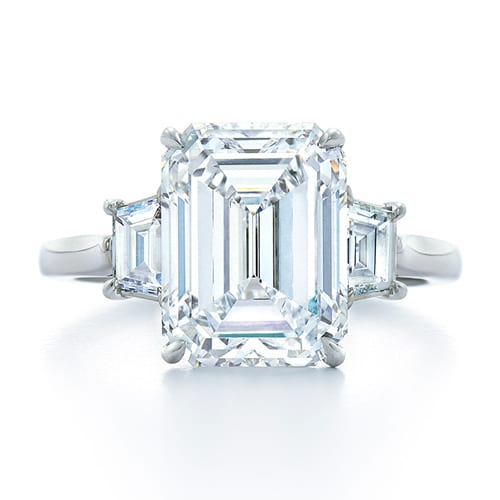 kwiat emerald cut engagement ring the plunge