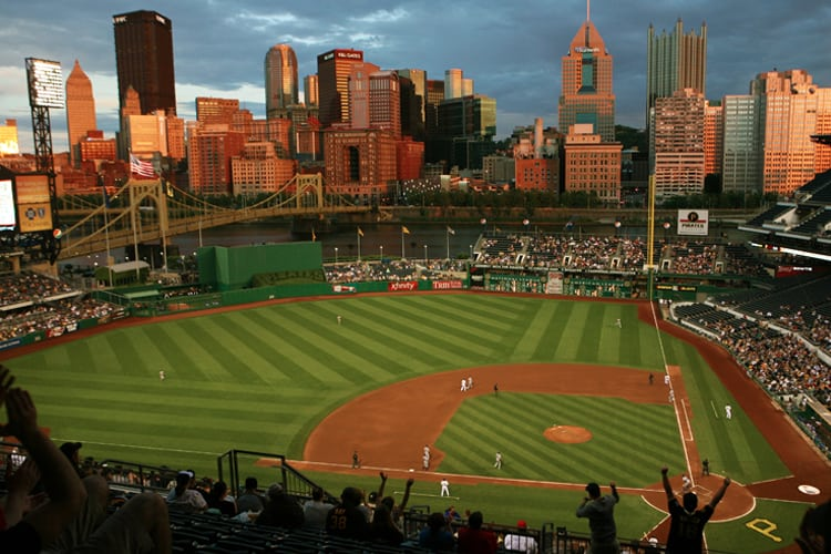 Pittsburgh Bachelor Party - The scene from the bleachers at a Pirates baseball game