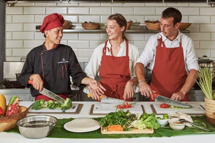 vegan couples cooking class