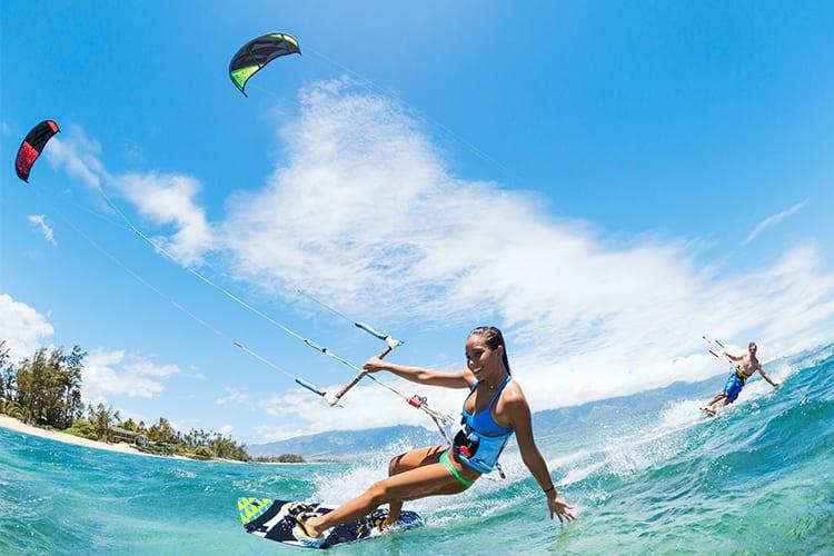Kite surfing Pro Kite School Aruba couples class