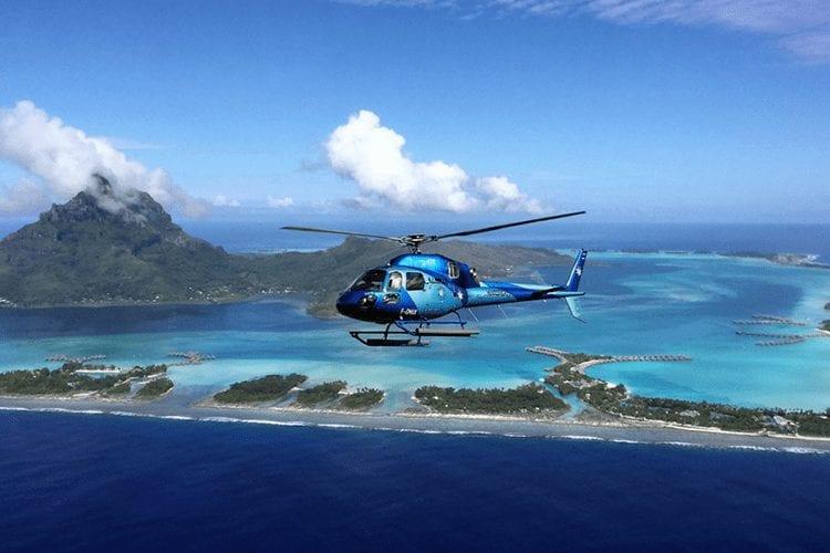Helicopter tour Bora Bora