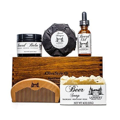 maison lambert beard grooming kit the plunge. Black Bedroom Furniture Sets. Home Design Ideas