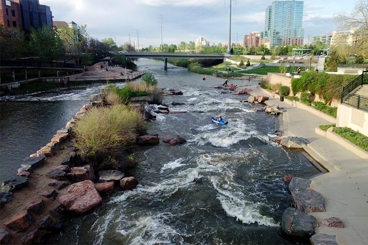 Kayak Confluence Park Denver Day Activity