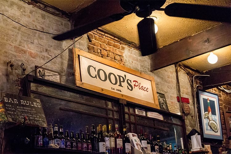 Coop's Place New Orleans Pre-game Bar