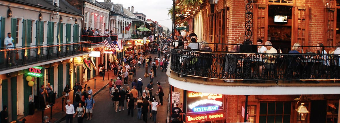 Best Streets in New Orleans to Party on at your Bachelor Party on