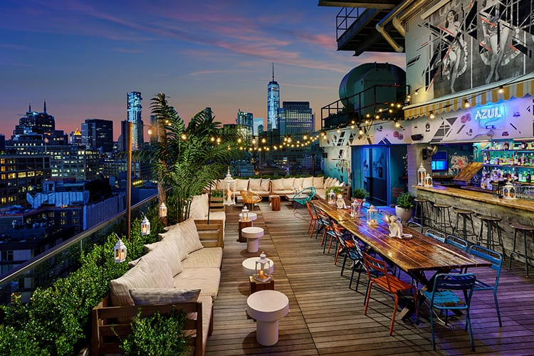 Azul Hotel Hugo Rooftop Bar NYC