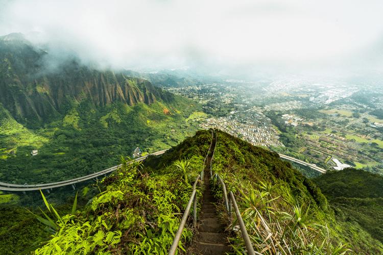 Glavni otok Oahu je popoln za bolj avanturistične parčke!