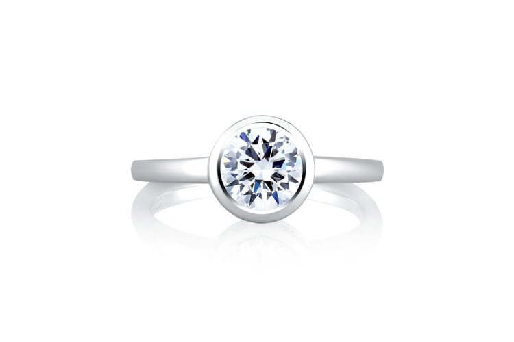 The 10 Best Bezel Set Engagement Rings The Plunge