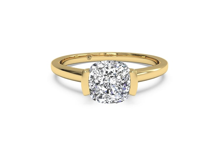 engagement in round set ring pin white exceptional bezel diamond gold rings