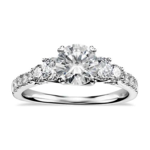 Engagement Rings Zac Posen: Truly Zac Posen Five-Stone Trellis Diamond Engagement Ring
