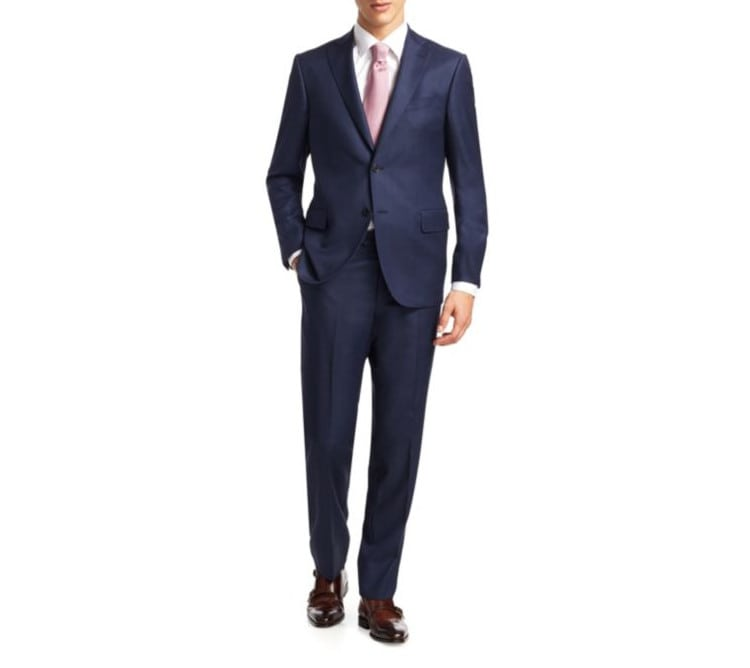 Saks Fifth Avenue Collection Birdseye Suit 998 You Want A New Navy For The Wedding